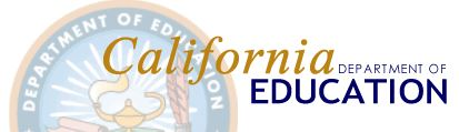 California Dept of Education