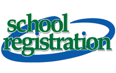 Graphic that says School Registration. Clicking on the graphic will take you to our school registration enrollment page