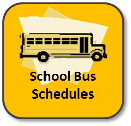 Graphic of a school bus with the words School Bus Schedules- clickng the graphic will take parents to the MUSD transpotaion page where they can find updated bus schedules