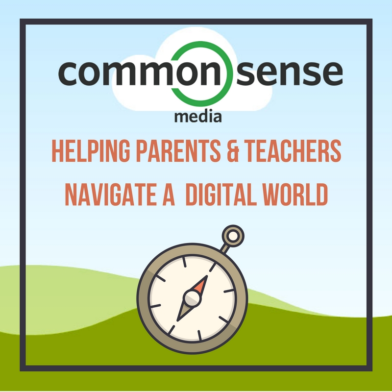Logo for Common Sense Media- clicking on the logo will take the end user to the Common Sense Media Digital Citizenship page