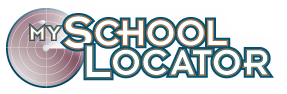 School Locator logo- clicking the logo will take parents to the school locator webpage