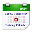 Icon for the MUSD Technology Training Calendar- clicking the logo will take the end user to the calendar
