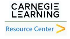 Carnegie Learning logo- clicking the logo will take students to the online Carnegie Learing Resource Center