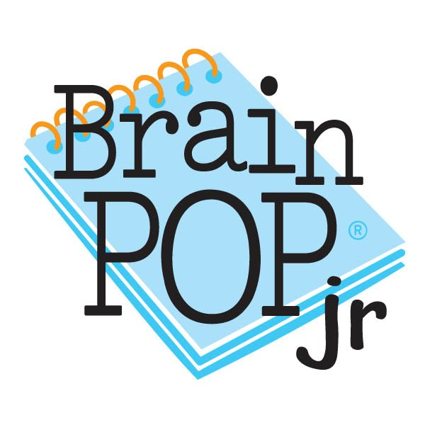 Brain Pop Jr. logo- clicking the logo will take students to the Brain Pop Jr. program home page