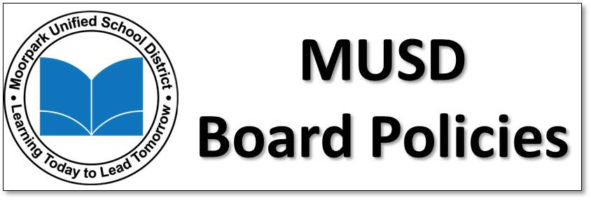 Graphic with MUSD logo and the words MUSD Board Policies