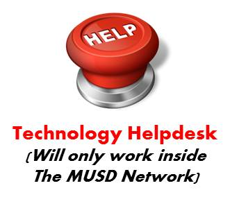 MUSD Technology Helpdesk Graphic that contains a link to the helpdesk program