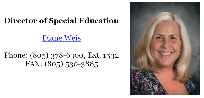 Director of Special Education Contact Information