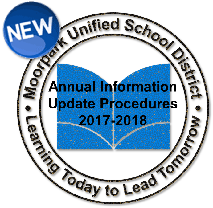 MUSD Logo with the words Annual Information Update Proceudres 2017-2018